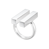 Georg Jensen Aria Two Bar Silver Ring