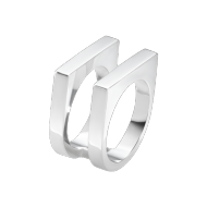 Georg Jensen Aria Two Row Silver Ring