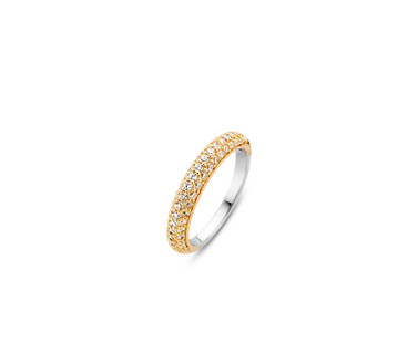 Ti Sento Gold Plated Silver Ring 12105ZY/54
