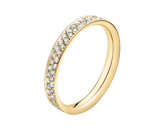 Georg Jensen Magic Gold Ring with Diamonds