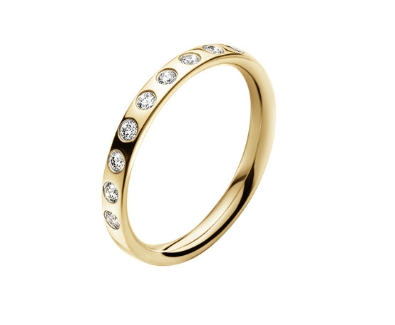 Georg Jensen Magic 18ct Yellow Gold and Diamond Ring