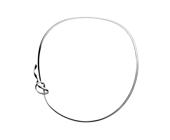 Georg Jensen Forget-Me-Knot Silver Neck Ring