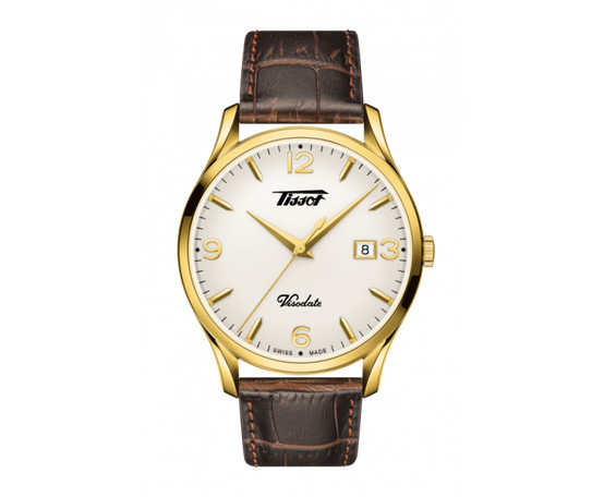 Gents Tissot Banana Heritage Quartz Strap Watch