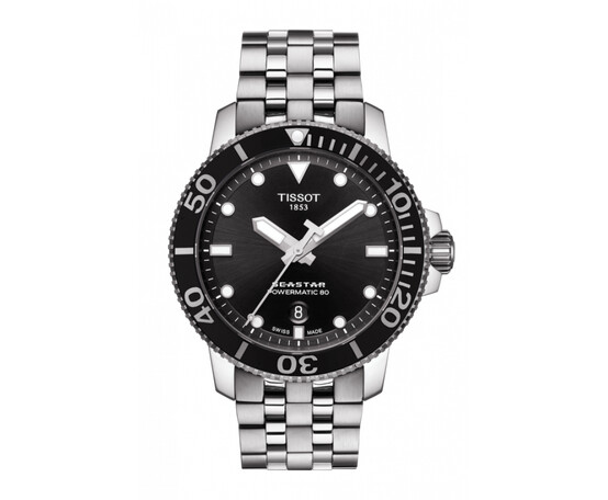 Gents Tissot Seastar Powermatic 80 Stainless Steel Bracelet Watch T120.407.11.051.00