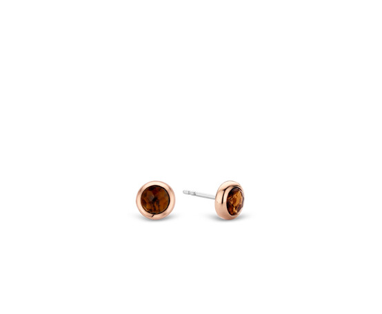 Rose Gold Plated Silver Stud Earrings 7748TB