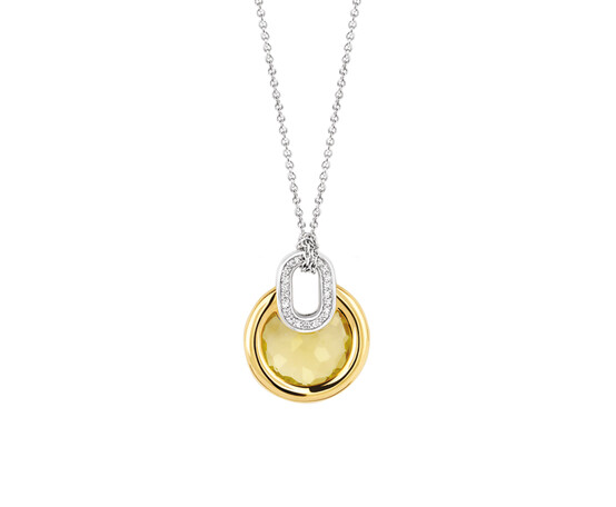 Ti Sento Gold Plated Silver Pendant and Chain 3887TY/42