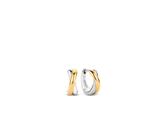 Gold Plated Silver Hoop Earrings 7667SY