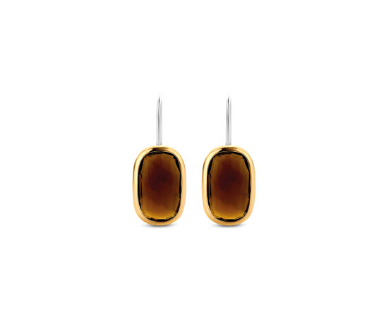 Gold Plated Silver Drop Earrings 7788TB