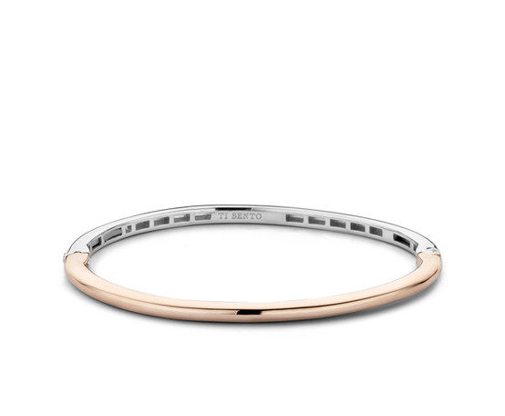 Ti Sento Rose Gold Plated Silver Bangle 2889SR