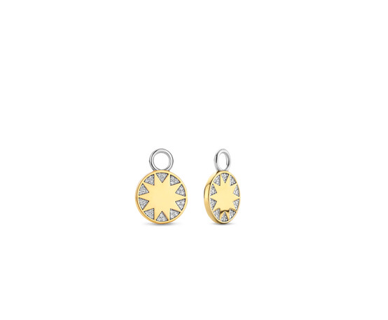 Ti Sento Silver  and Gold Plated Ear Charms 9228ZY