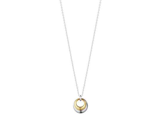 Georg Jensen Curve 18ct Gold and Silver Pendant 10018360