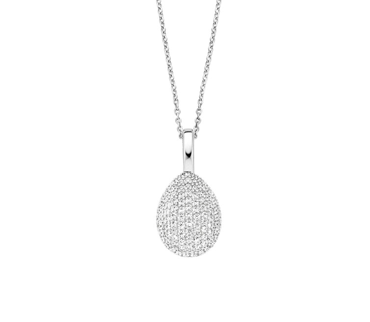 Ti Sento Silver Pendant and Chain 6746ZI