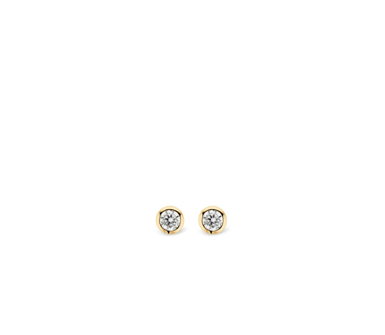 Gold Plated Silver Stud Earrings 7597ZY