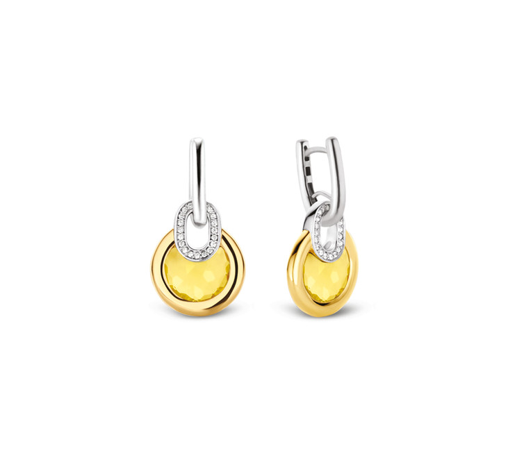 Gold Plated Silver Drop Earrings 7795TY