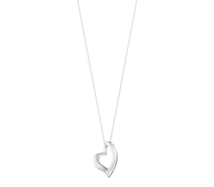 Hearts of Georg Jensen Silver Pendant 10012161